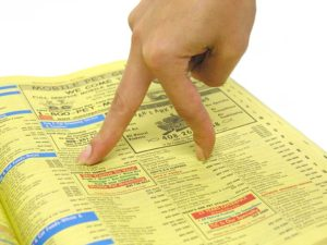 Let Your Fingers do the Walking Yellow Pages